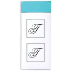 Monogram T Sticker Seals 30ct