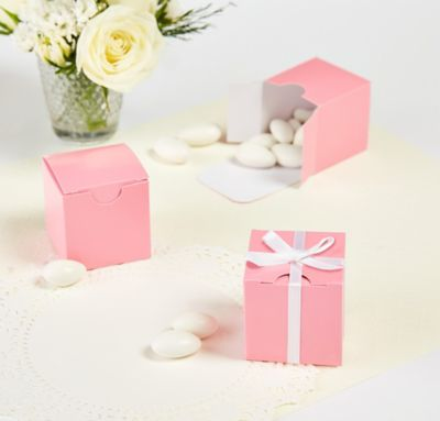 Light Pink Favor Boxes