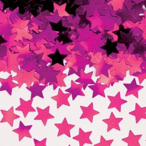 Mini Pink Star Confetti
