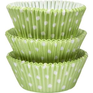 Green Polka Dot Baking Cups 75ct