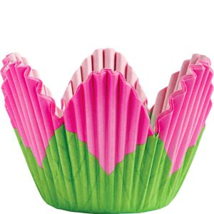 Pink Petal Baking Cups 24ct