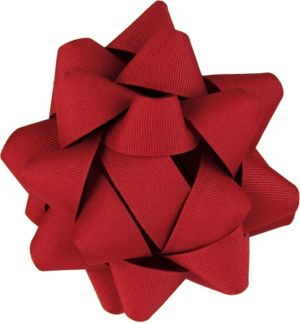 Red Grosgrain Gift Bow