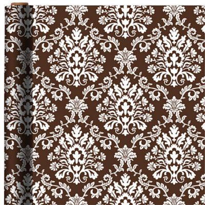 Jumbo Chocolate Brocade Gift Wrap