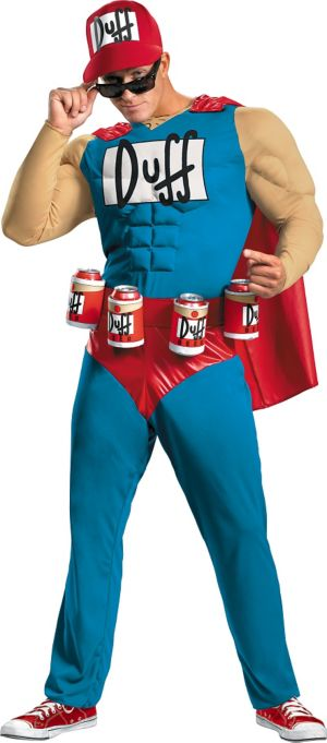 Adult Classic Muscle Duffman Costume- The Simpsons
