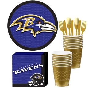 Baltimore Ravens Basic Party Kit for 18 Guests