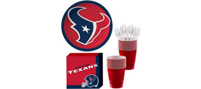 Houston Texans Basic Party Kit for 18 Guests