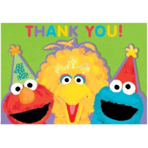 1st Birthday Sesame Street Thank You Notes 20ct