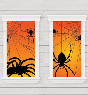 Spider Window Decorations 2ct