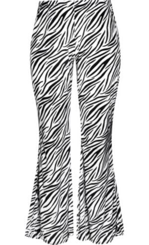Zebra Print Rocker Pants