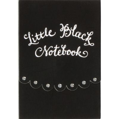 Little Black Notebook Purse Notepad