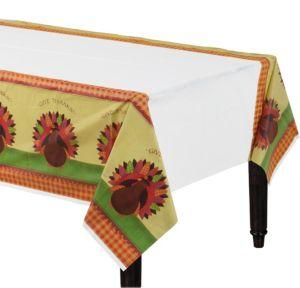 Turkey Dinner Plastic Table Cover