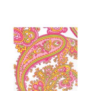 Peppermint Paisley Beverage Napkins 16ct