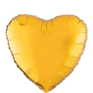 Gold Heart Balloon