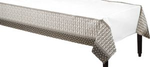 Damask & Polka Dots Paper Table Cover