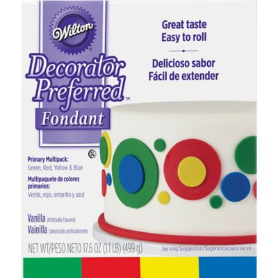 Rolled Fondant Multi Colors 4ct