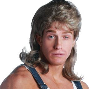 Premium Blonde Mullet Wig