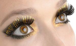 Elegant Gold False Eyelashes