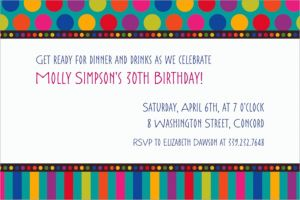 Custom Birthday Dots & Stripes Invitations
