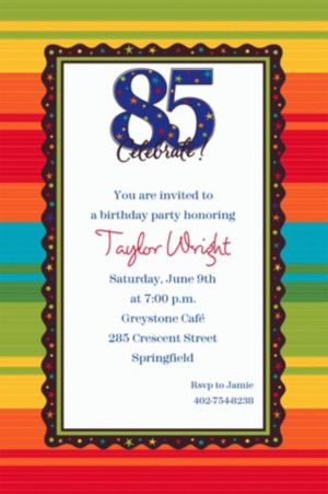 Custom A Year to Celebrate 85th Invitations