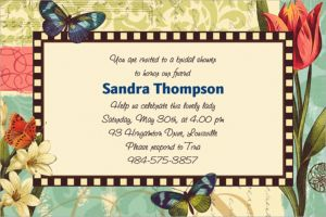 Custom Garden Melody Invitations