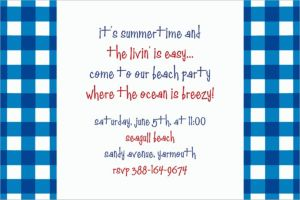 Custom American Summer Blue Gingham Invitations