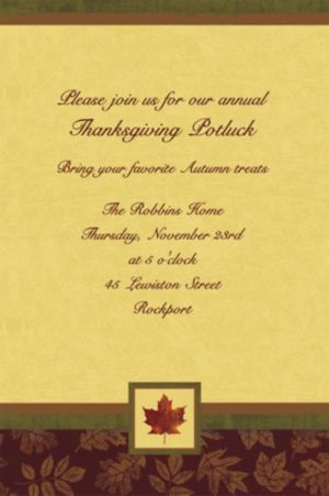 Custom Fall Elegance Invitations