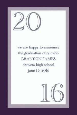 Custom Navy Austere Border Graduation Announcements