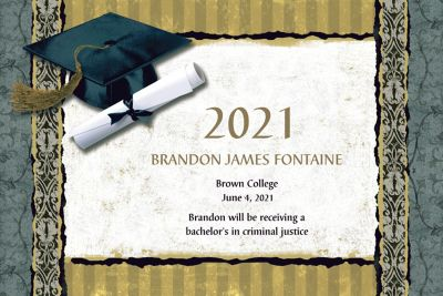 Custom Golden Grad Announcements
