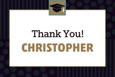 Class Pride Custom Graduation Thank You Notes