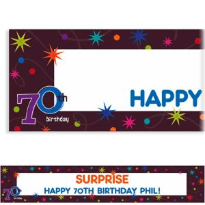Custom The Party Continues 70th Banner 6ft