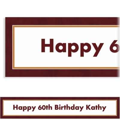Chocolate Border Custom Banner 6ft