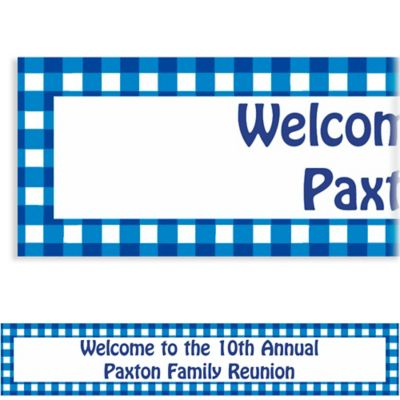 American Summer Blue Gingham Custom Banner