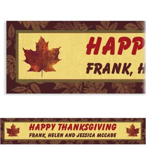 Custom Fall Elegance Banner 6ft