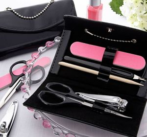 Little Black Purse Manicure Set