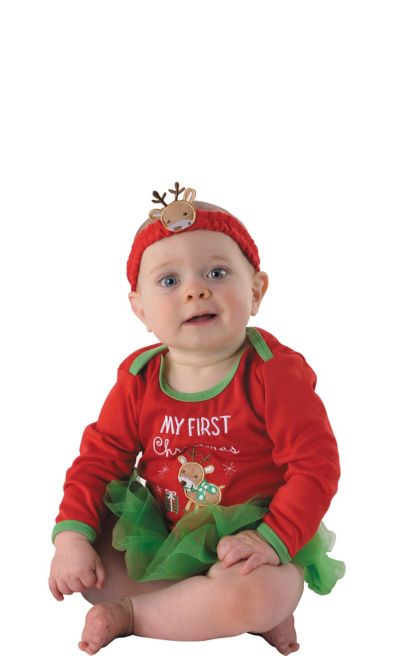 Baby First Christmas One Piece Tutu