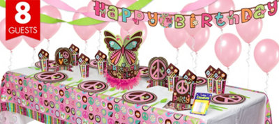 Hippie Chick Party Supplies Super Party Kit