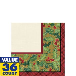 Winter Warmth Beverage Napkins 36ct