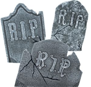 RIP Tombstones 3ct
