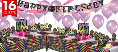Neon Birthday Party Supplies Deluxe Party Kit