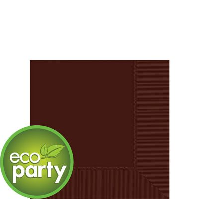 Eco Friendly Chocolate Brown Beverage Napkins 50ct