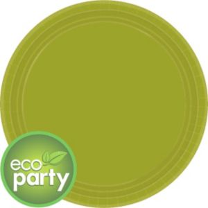 Eco Friendly Avocado Round Paper Lunch Plates 24ct