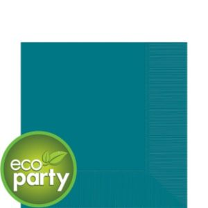 Eco-Friendly Peacock Blue Lunch Napkins 50ct