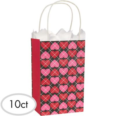 Trendy Valentine's Day Gift Bags 10ct