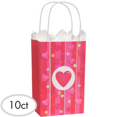 Hearts & Stripes Gift Bags 10ct