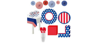 Red, White & Blue Stars Ultimate Party Kit