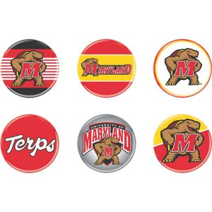 Maryland Terrapins Buttons 6ct