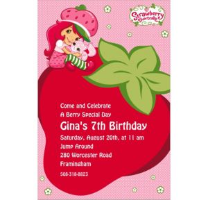 Custom Strawberry Shortcake Invitations