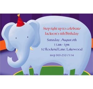 Custom Circus Invitations