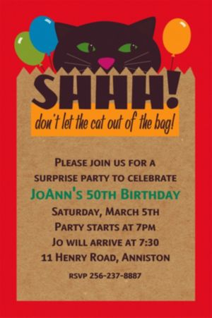 Custom It's A Surprise Invitations