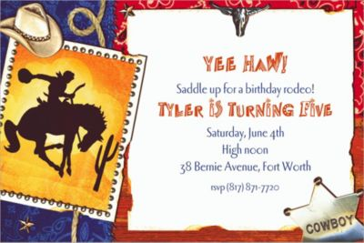 Custom Wild Wild West Invitations